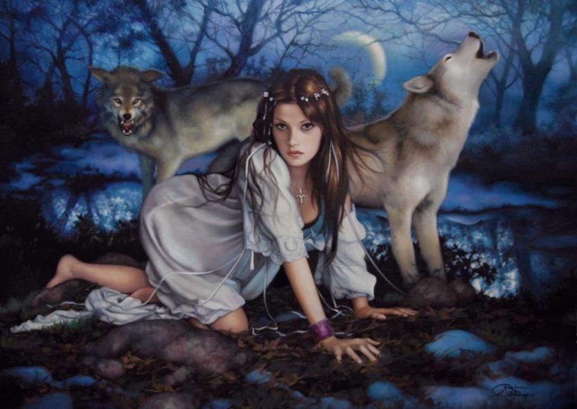 a dama e os lobos
