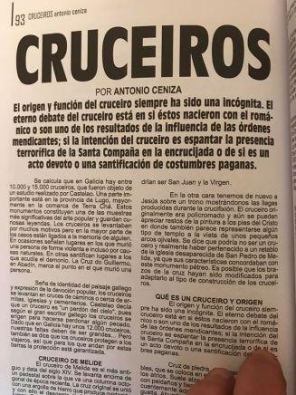 ARTÍCULO REVISTA MUNDO SOBRENATURAL CRÓNICAS DEL MISTERIO
